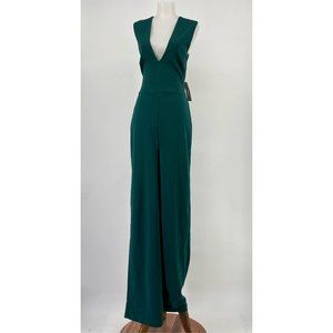 New Lulu's Jumpsuit Thinking Out Loud Hunter Green